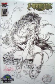 Witchblade #100 Wizard World VIP Sketch Variant Signed Michael Turner Top Cow comic book